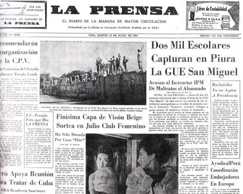 """Así era """"La Prensa"""" de Pedro Beltrán en los años sesenta."""