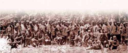 Infantería peruana en Tarapacá