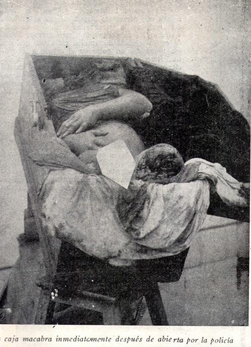 """El baul con el cadáver. Foto de """"Mundial""""."""