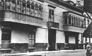 La Crónica estuvo en esta casona casi cuarenta años. Ya no existe. En su lugar se abrió las Galerías Boza.