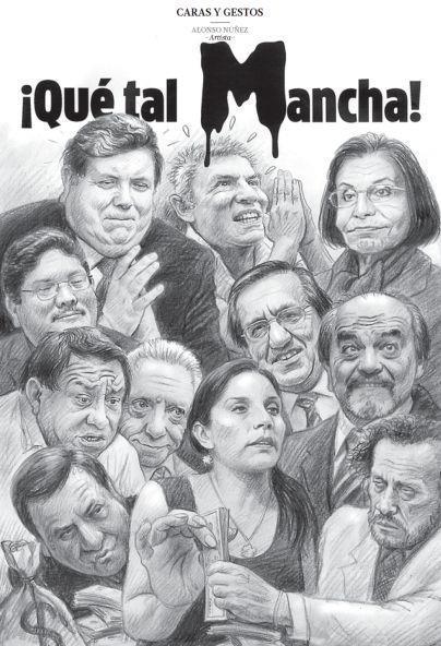 """Caricatura de los """"Revocadores"""" por Alonso Núñez"""" en El Comercio del 17 de marzo."""