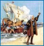 Así describen la llegada de Colón a las Indias.