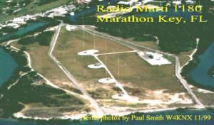 Las grandes antenas iniciales  en Cayo Maratón