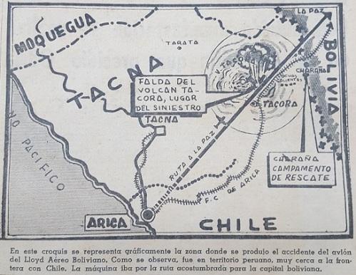 """Así ilustró """"La Crónica"""" el lugar del accidente."""