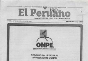 Esta Separata pasará sin duda a la historia del peridoismo y de la ONPE.
