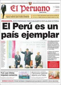 Alan García llevó el diario a la franela extrema.
