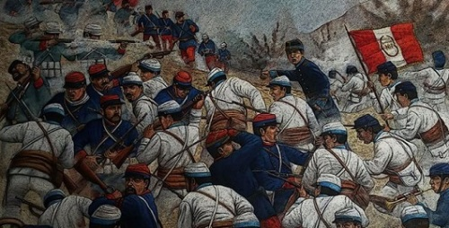Los avatares de la invasión chilena fue descrita por grandes corresponsales.